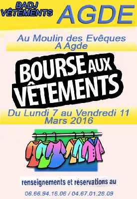 BAU agenda Bourse aux Vêtements Mars 2016